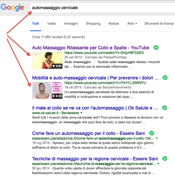 Thumb Video in Serp Google - automassaggio cervicale